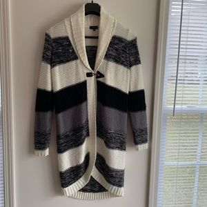 Limited Long Striped Cardigan Sweater